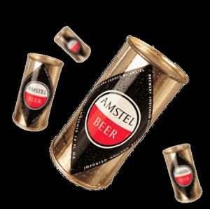 Lata de cerveza Amstel
