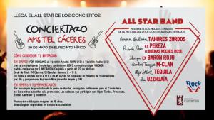 Conciertazo Amstel en Cáceres.