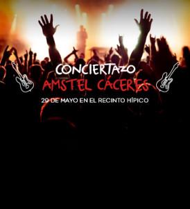 Nuevo Conciertazo Amstel: Cáceres se va a llenar de rock