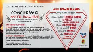 Concierto de rock en Las Hogueras de Alicante con AMSTEL.