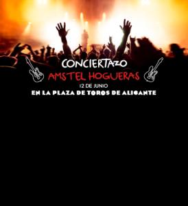 Nuevo Conciertazo Amstel: las hogueras de Alicante se van a llenar de rock.