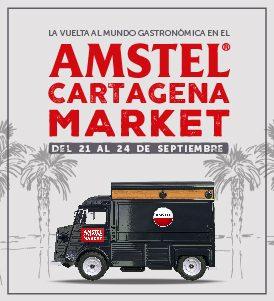 La vuelta al mundo gastronómica en el Amstel Cartagena market.