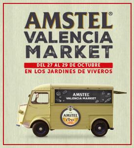 Street food con el AMSTEL VALENCIA MARKET.